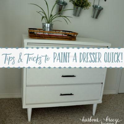 Cheater Tricks to Paint a Dresser QUICK!