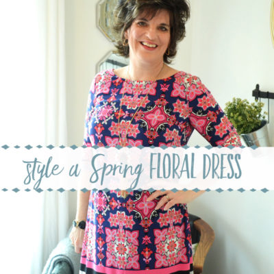 How to Style a Spring Floral Dress (when your legs are winter snow white!)