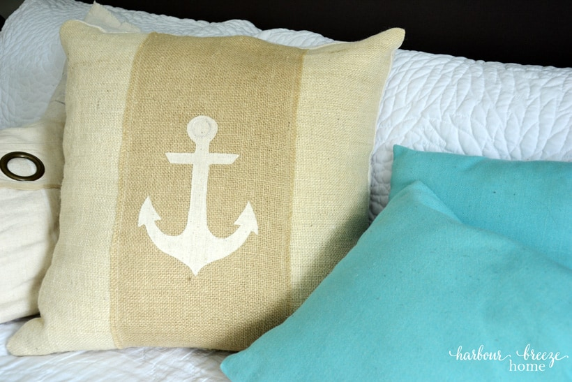 Burlap Anchor Pillow