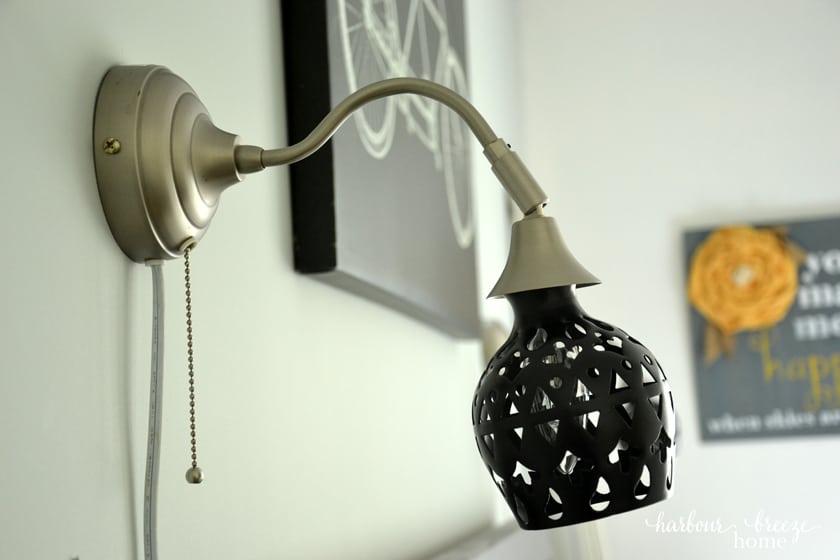 DIY Lampshade for Ikea's Arstid Wall Lamp