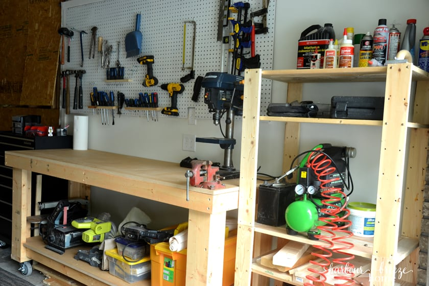 organized garage workshop