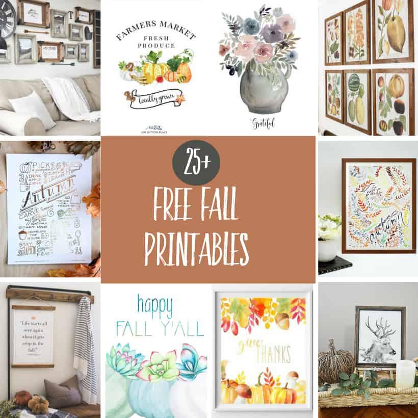 Farmhouse printables perfect for Fall!