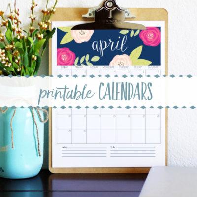 Free Printable Calendars for 2018