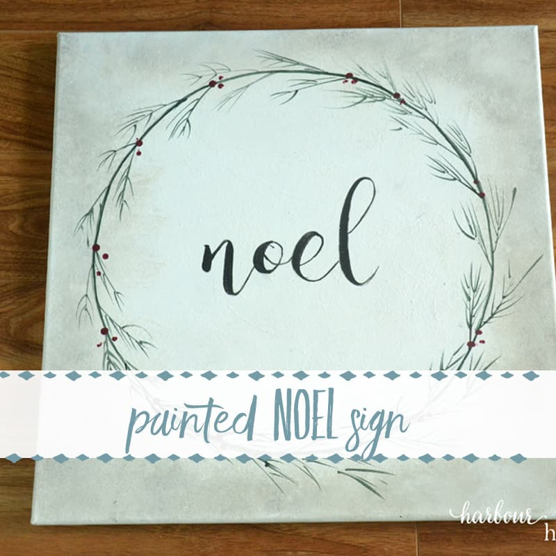 $5 Goodwill Challenge ~ Painted Noel Sign