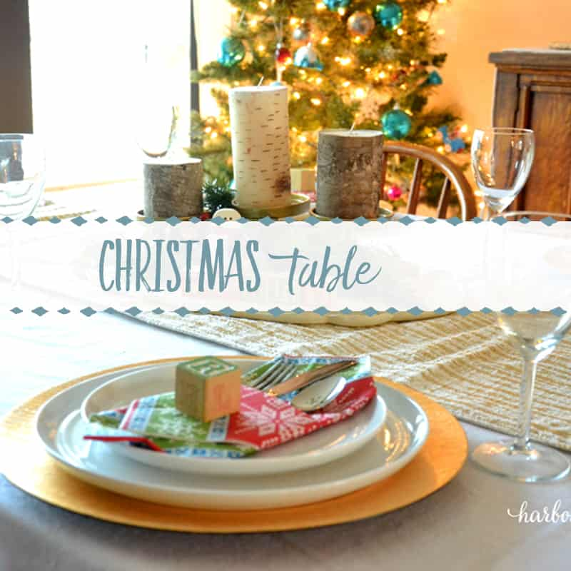 A Quick and Simple Christmas Table Setting