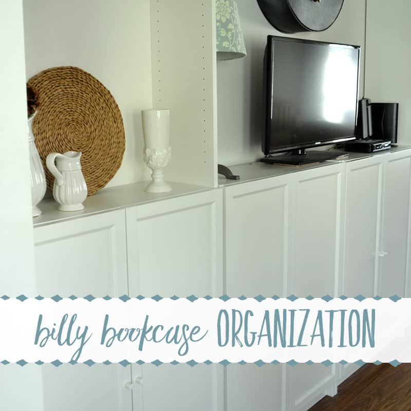How to Organize Office Supplies in Ikea's Billy Bookcases