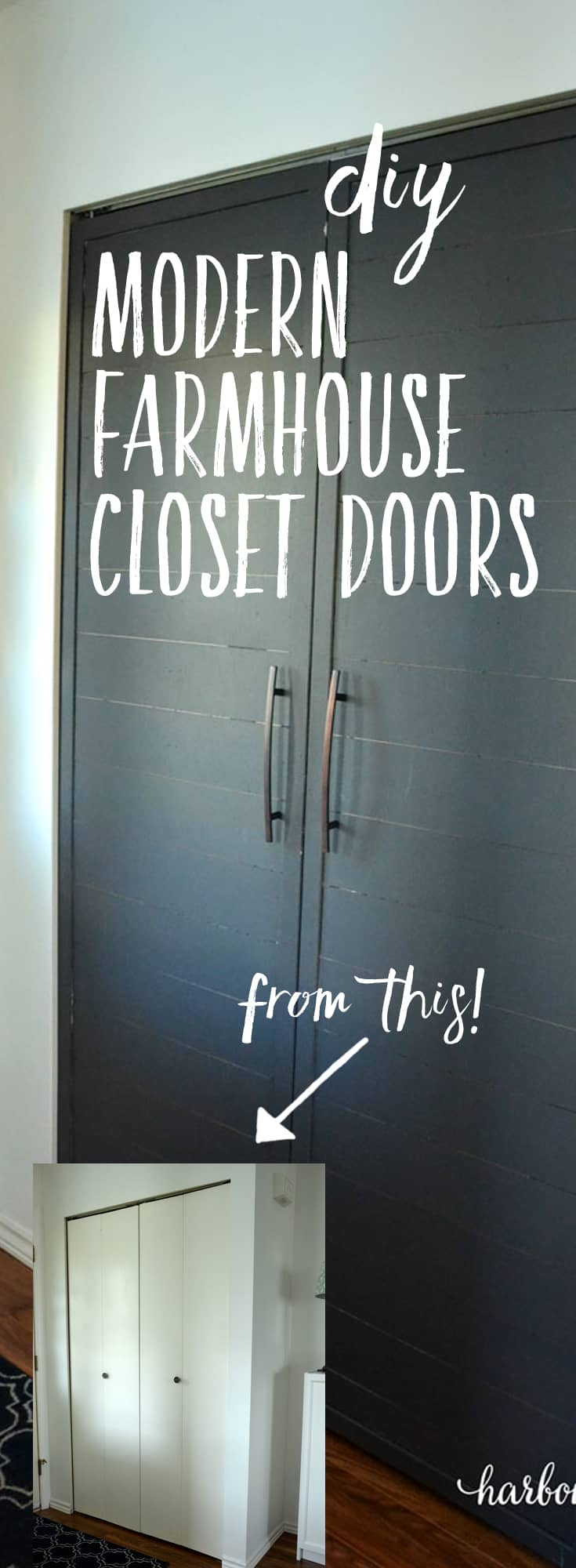 How To Convert Bi Fold Closet Doors Into Modern Farmhouse