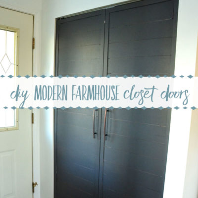 How to Convert Bi- Fold Closet Doors into Modern Farmhouse French Doors