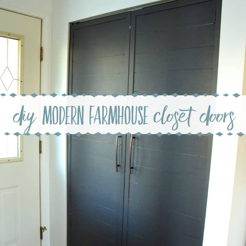 How to Convert Bi- Fold Closet Doors into Modern Farmhouse French Doors