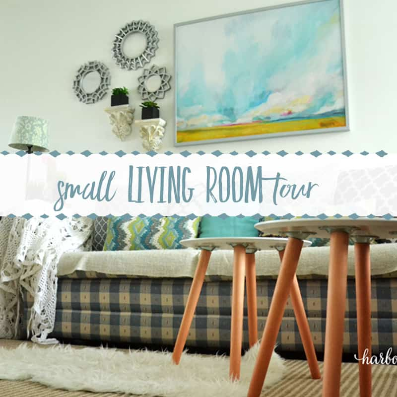 Take a Tour of our Newly Decorated Small Living Room