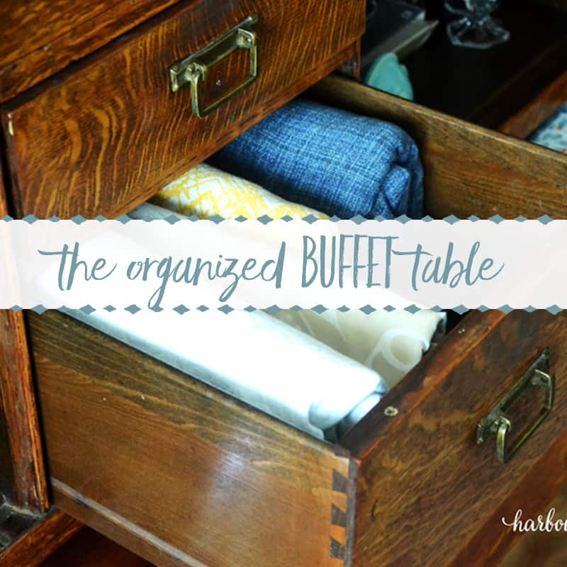 The Organized Buffet Table