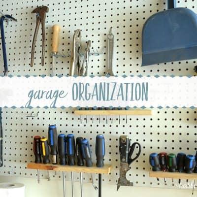 8 Week Organization Challenge: Garage Organization