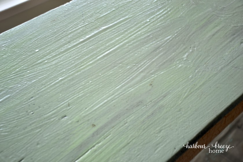 A thick, clear substance spread on a table top