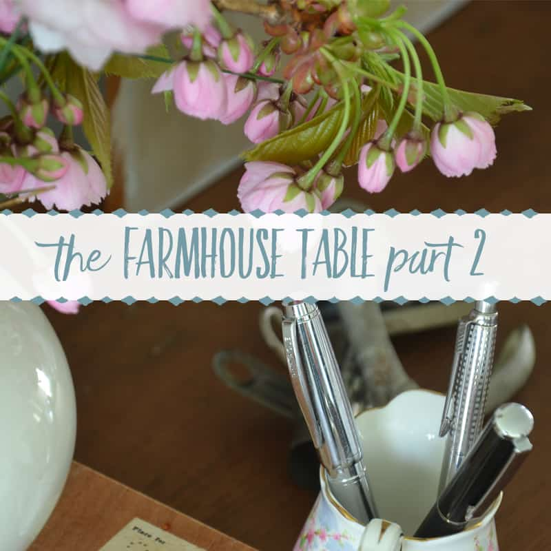 A Painted Farmhouse Table Makeover with Country Chic Paint