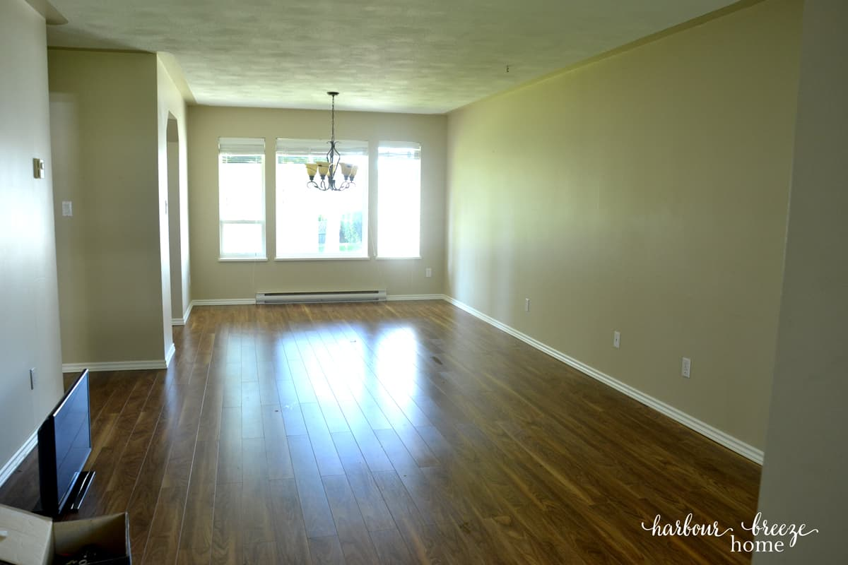 empty townhouse living room