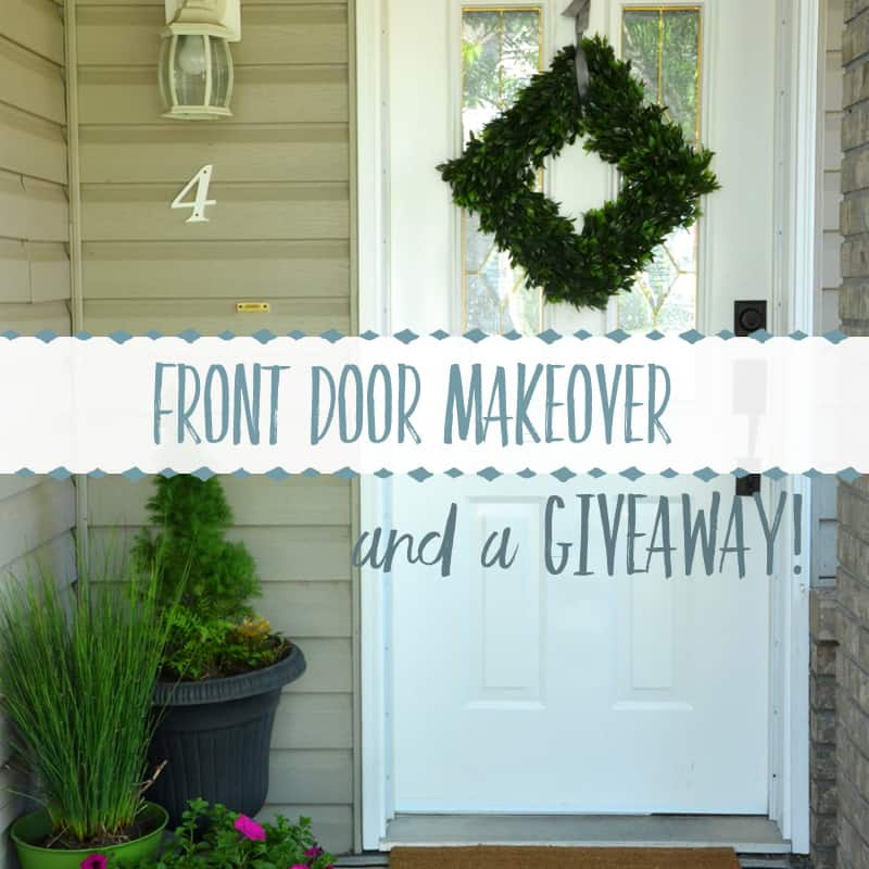 Front Door Makeover with Schlage ~ and a Giveaway for You