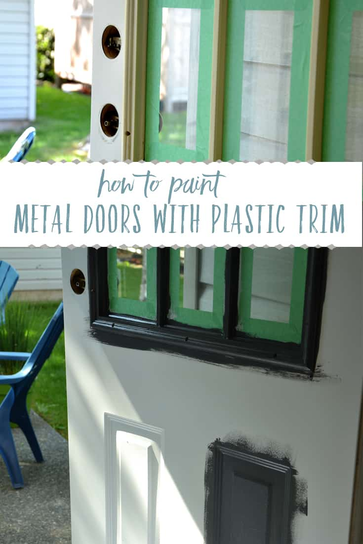 How To Paint Metal Doors With Plastic Trim Harbour Breeze Home
