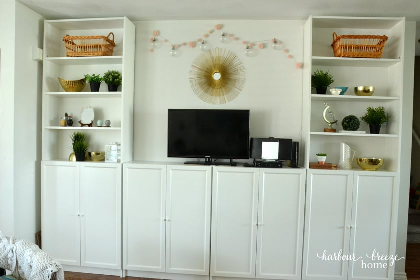 Billy Bookcase system in living room