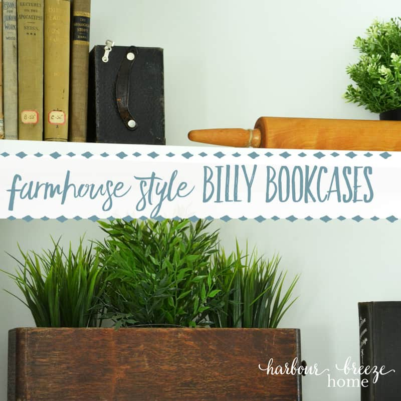Farmhouse Style Bookcases