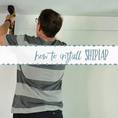 How to Make a DIY Shiplap Wall