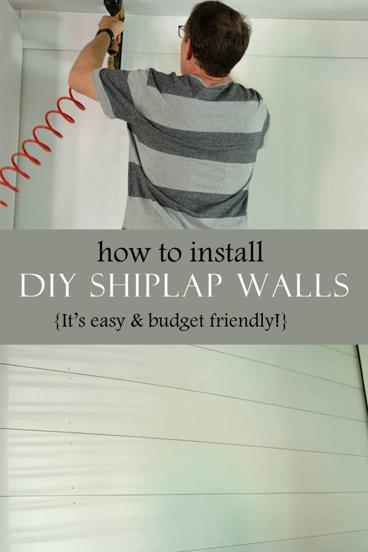 DIY shiplap walls