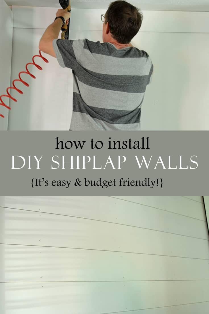 How to install DIY shiplap walls