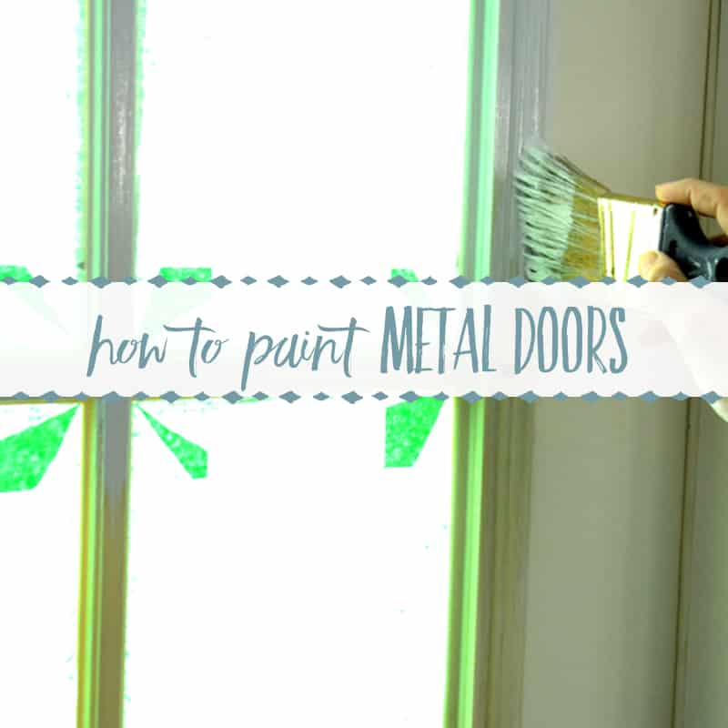 How to Paint Metal Doors with Plastic Trim