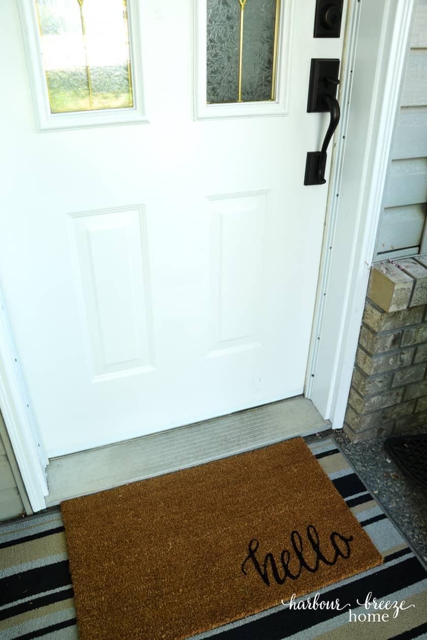 How To Paint A Vinyl Door Sweep Harbour Breeze Home