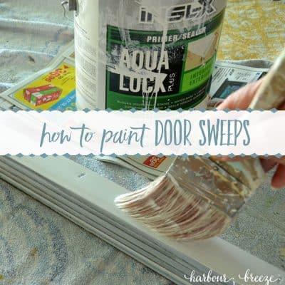How to Paint a Vinyl Door Sweep