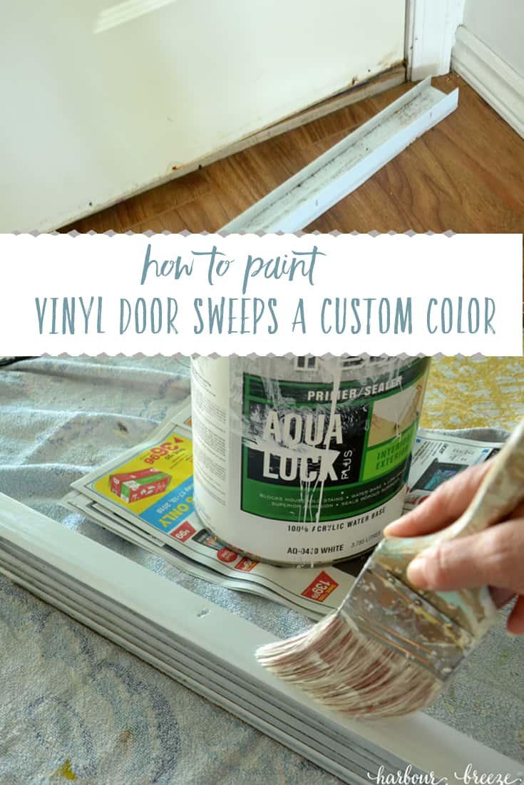 How to Paint Vinyl Door Sweeps a Custom Color