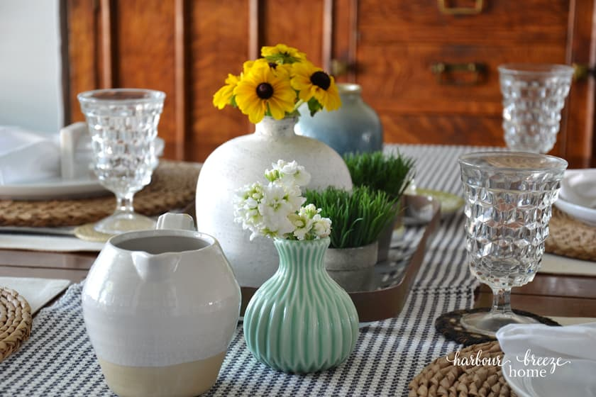 A Sweet Simple Farmhouse Table Setting Harbour Breeze Home