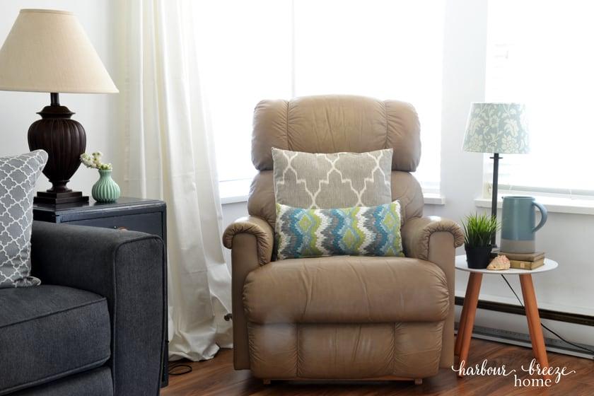 Tan Leather La-z-Boy chair