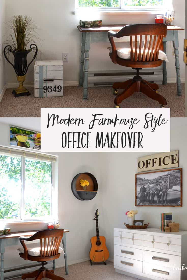 Farmhouse Style Office Makeover
