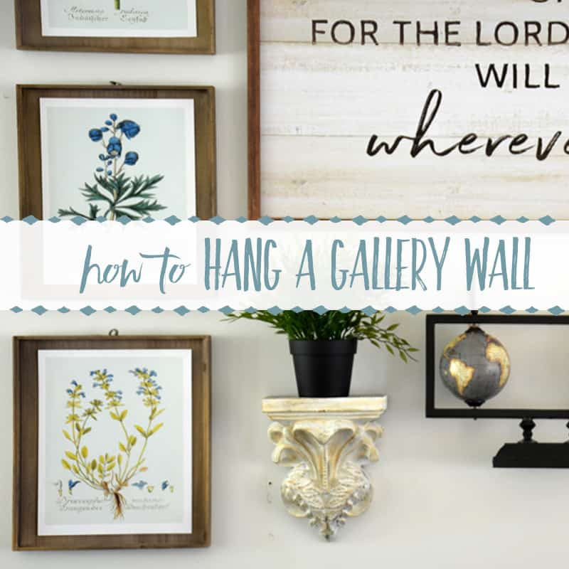 How to Hang a Gallery Wall Above a Couch By Yourself!