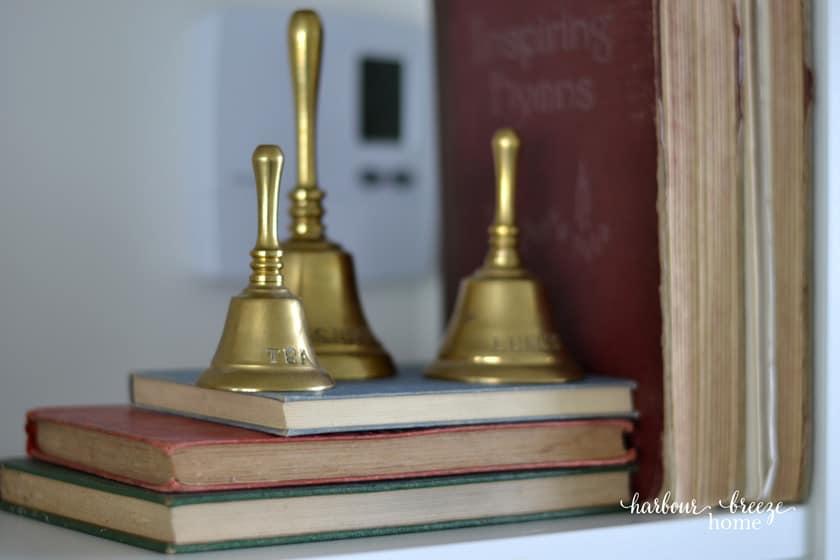 3 brass bells
