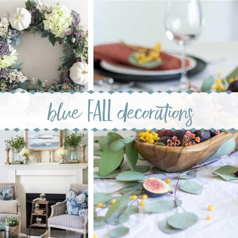 Blue Fall Decor Ideas