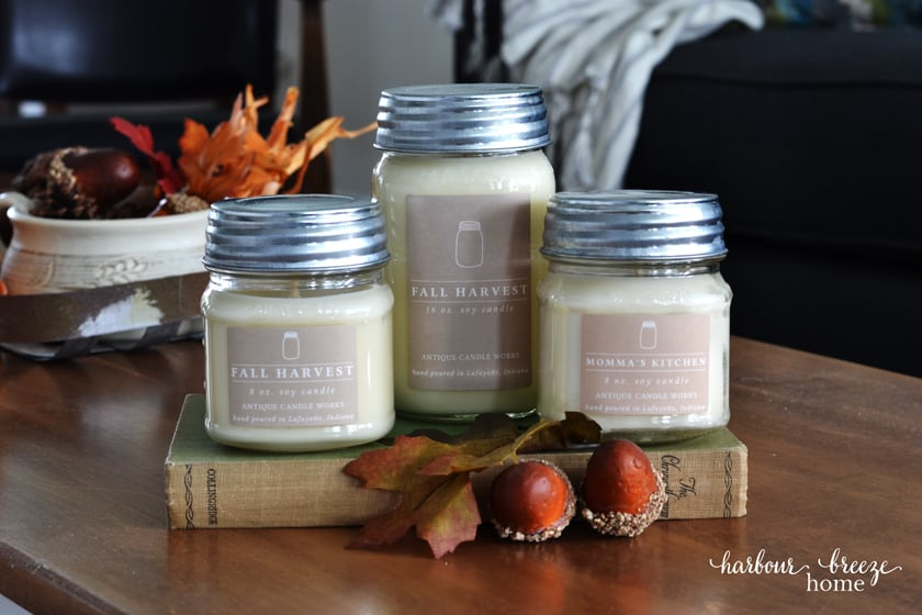 3 Fall Candles from Antique Candle Works