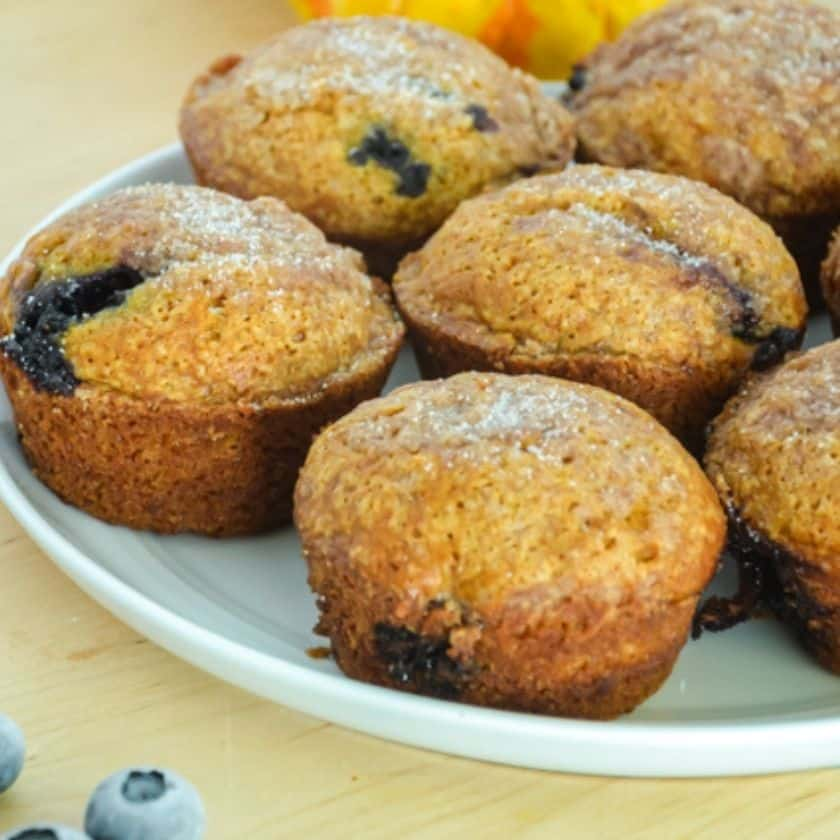 Pumpkin Muffins with Berries & Streusel Topping