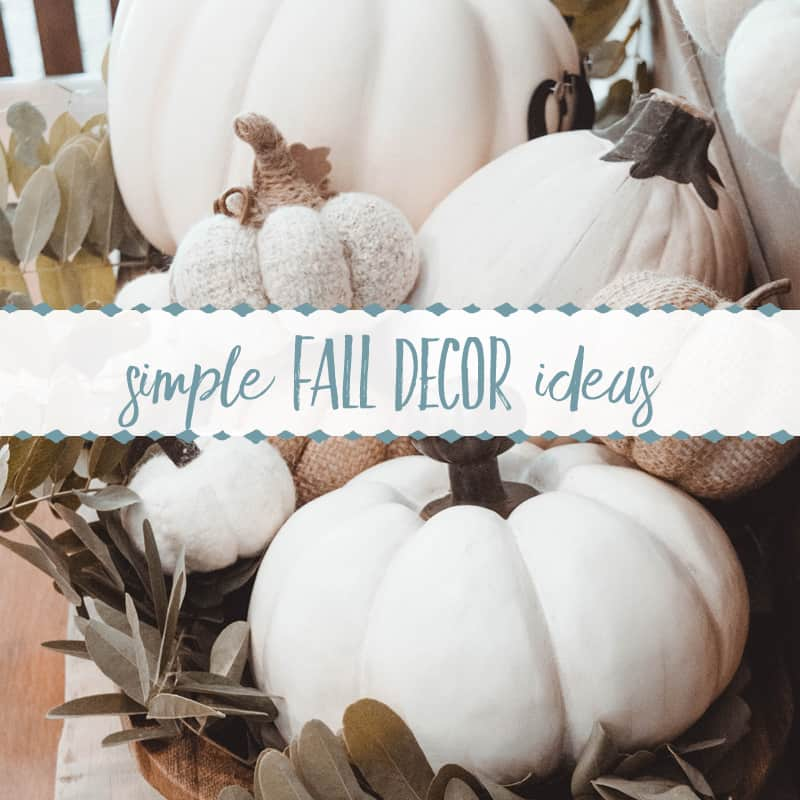 Easy & Inexpensive Decorating Ideas for Fall
