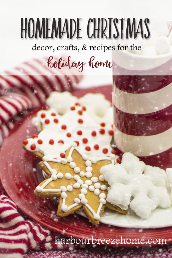 Homemade Christmas | A Blog series of articles featuring Christmas decor, crafts, & recipes for the holiday home. #christmas #christmasdecor #recipes