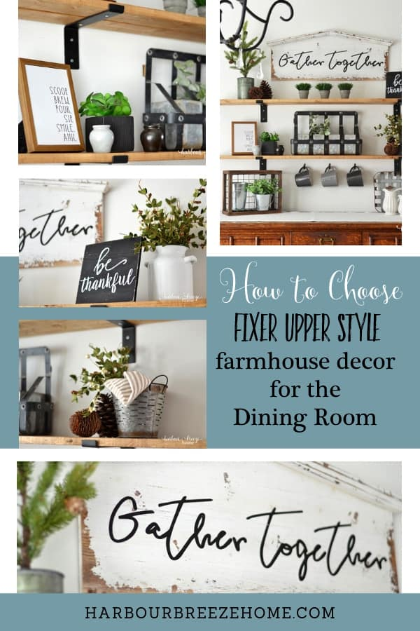 Fixer Upper Style Farmhouse Decor for the Dining Room | Overwhelmed by all the decor options available? Narrow down the selection and make decisions with confidence with these easy tips.