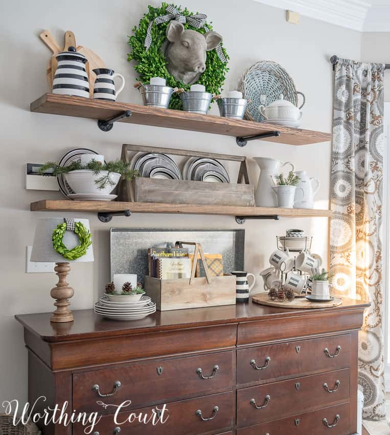 Farmhouse Shelf Styling by Worthing Court