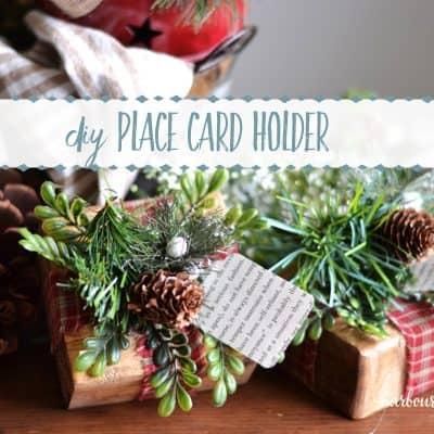DIY Christmas Place Card Holders