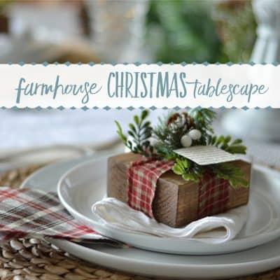 Simply Classic Christmas Farmhouse Tablescape