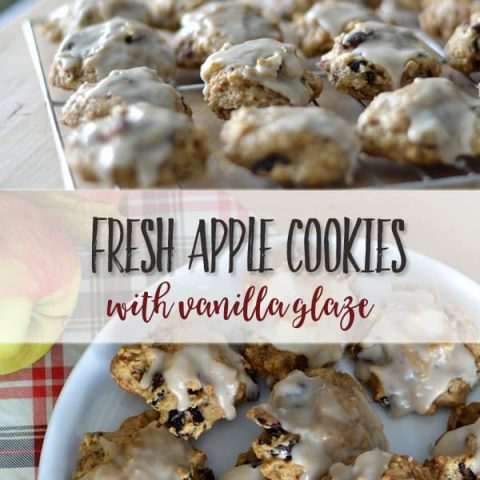 Glazed Fresh Apple Cookies