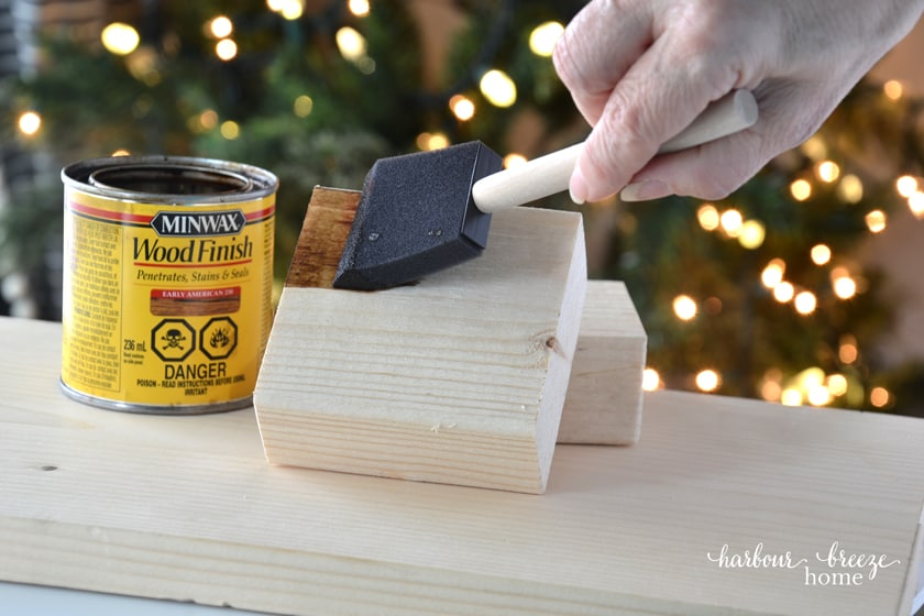 staining a wood block with minwax wood stain