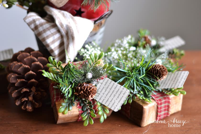 handmade Christmas farmhouse style placecard holders