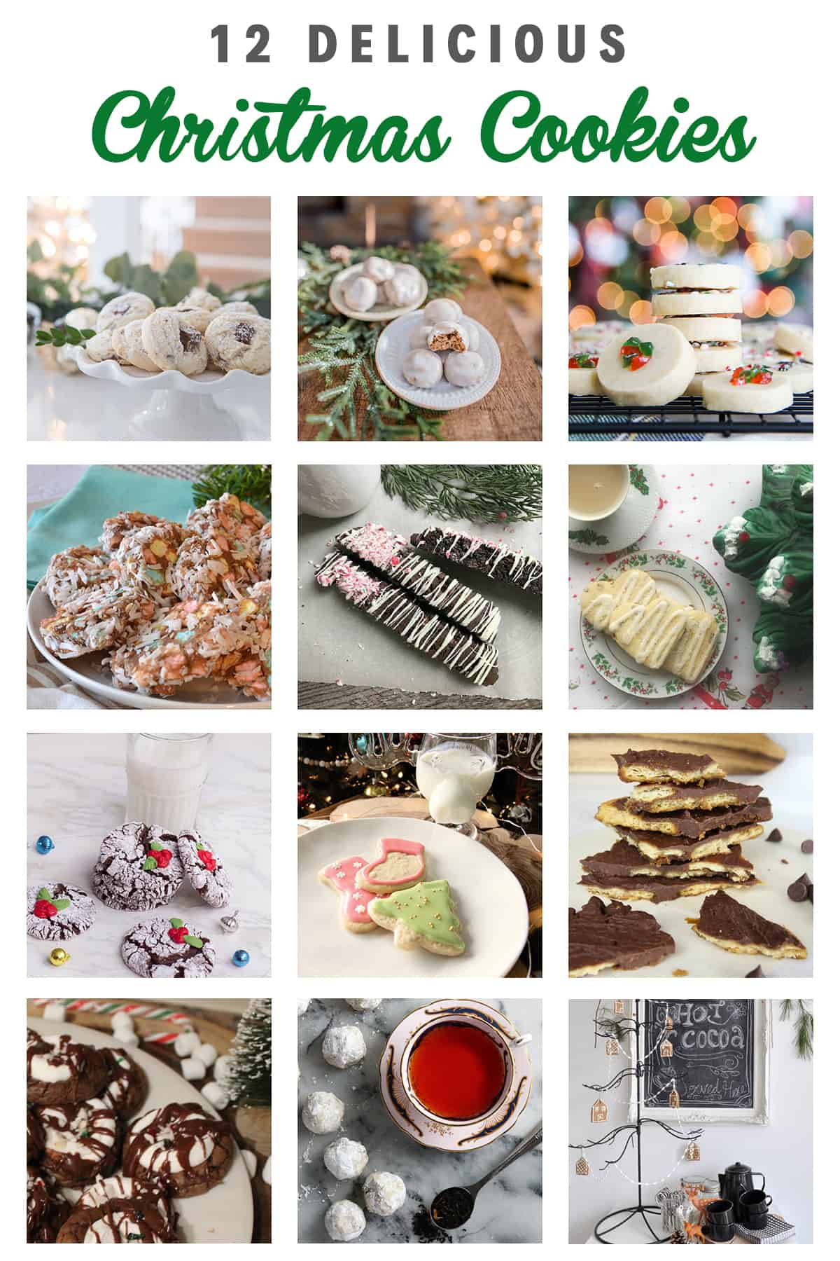 12 Delicious Christmas Cookies | Add a beautiful tasty treat to your Christmas party table with these recipes! #christmasrecipe #christmas #handmade