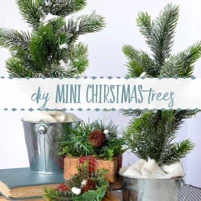 How to Make a Mini Flocked Christmas Tree