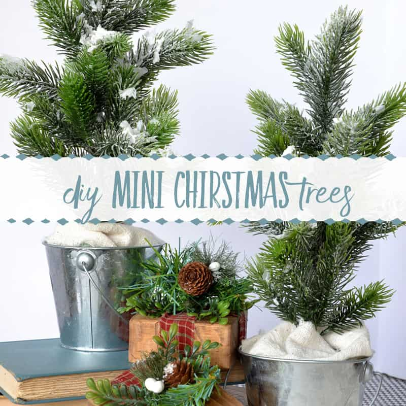 How to Make a Mini Flocked Christmas Tree